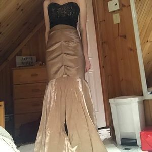 Black and gold/tan prom dress Le Château